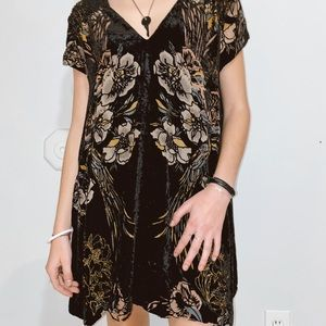 Free People Suede Floral Detailed Dress